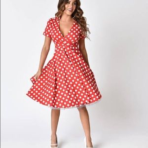 Orange Poka Dot Dress By Dress Barn